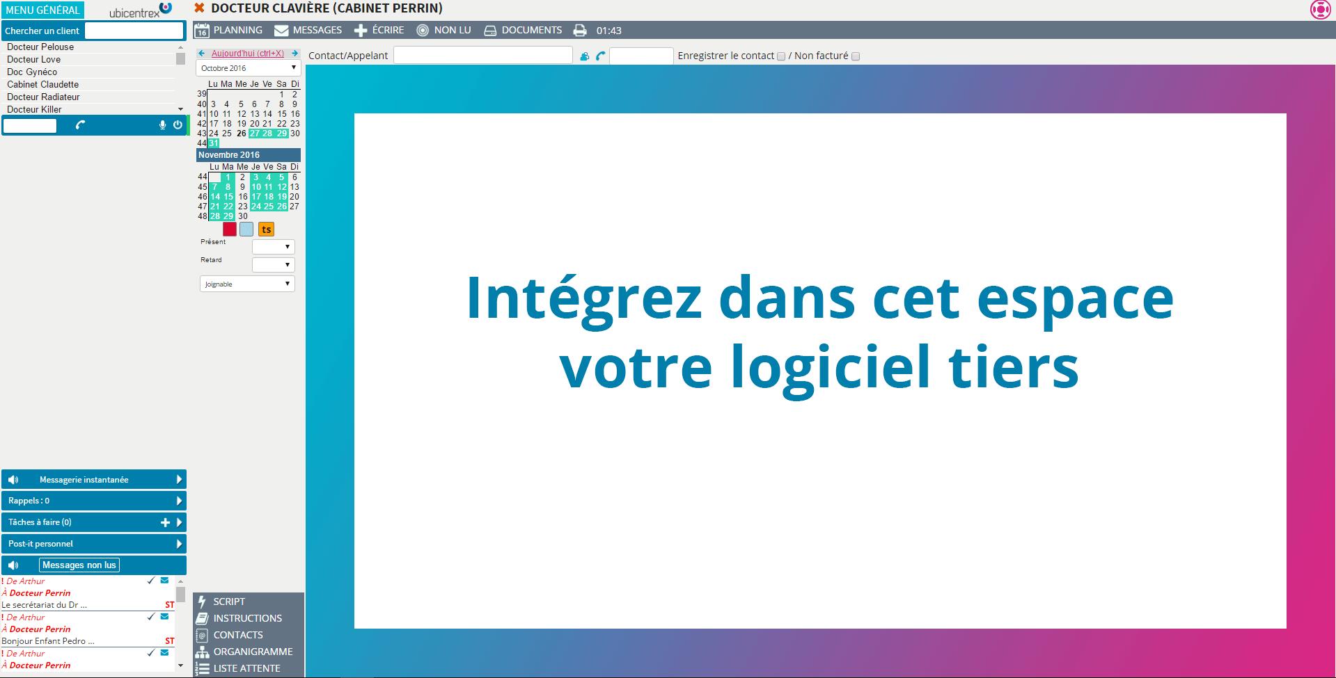 Intégration d'un logiciel tiers